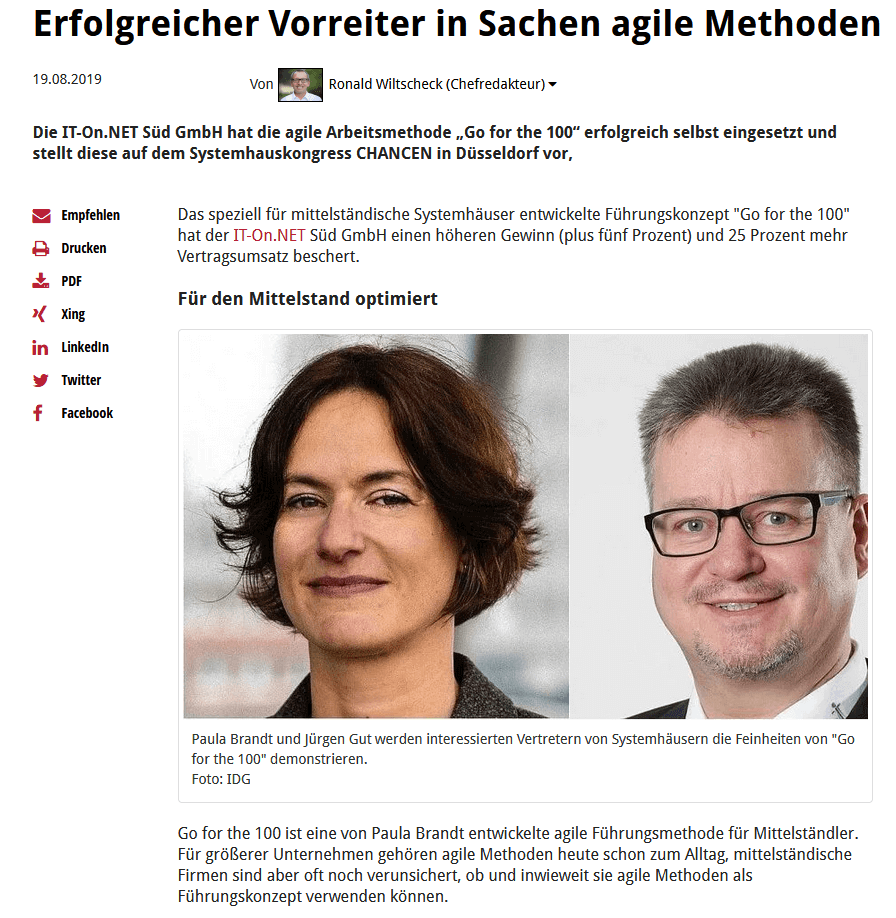 CRN: Agilter Vorreiter IT-On.Net Süd